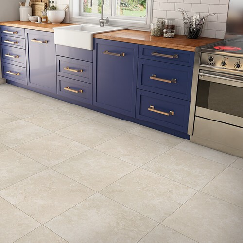 Blue kitchen cabinets | Piedmont Floors