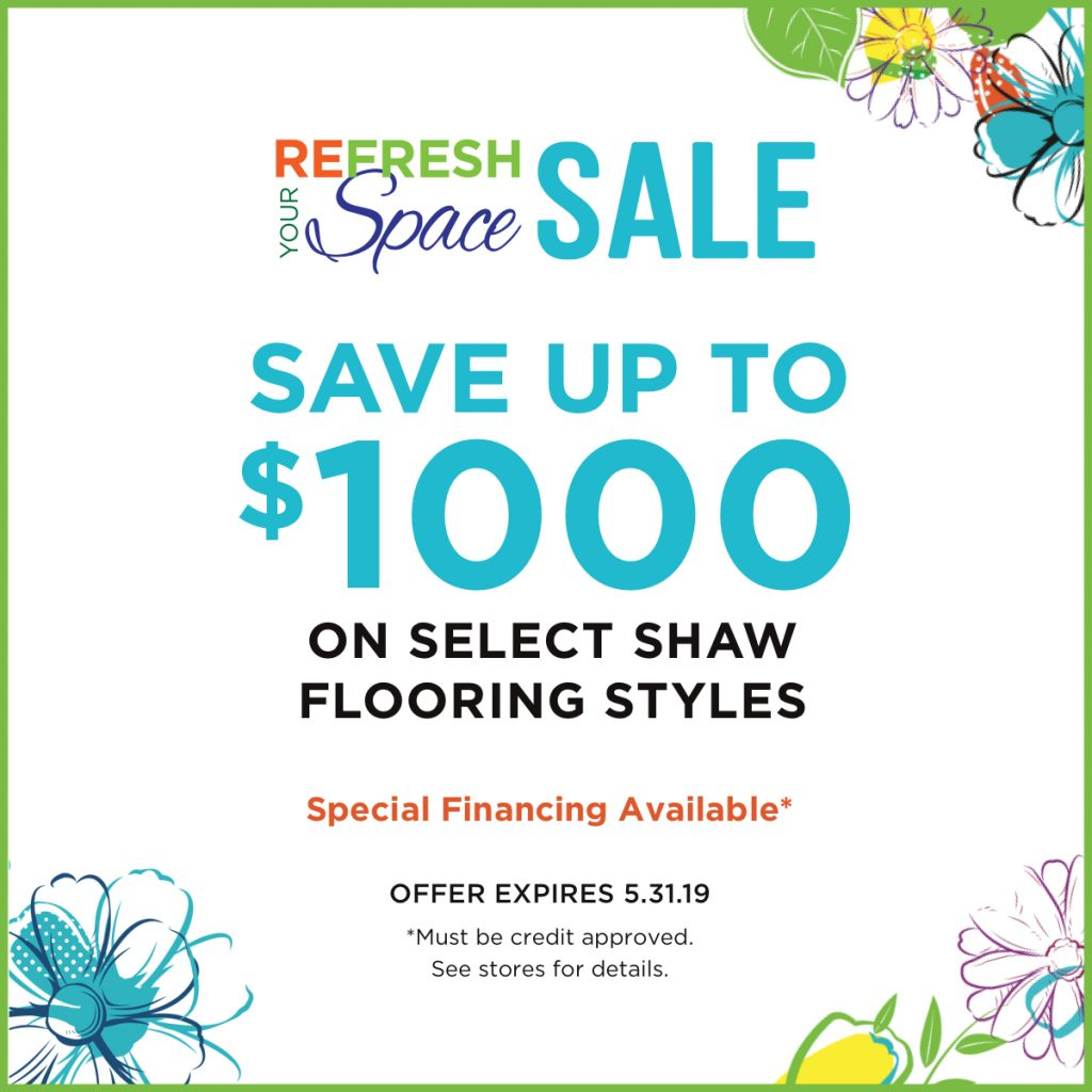 Refresh your space sale | Piedmont Floors