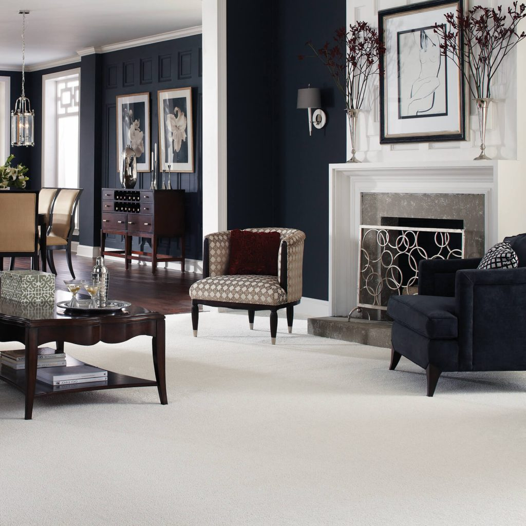 White Carpet in Living room | Piedmont Floors