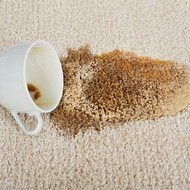 Coffee spill on area rug | Piedmont Floors
