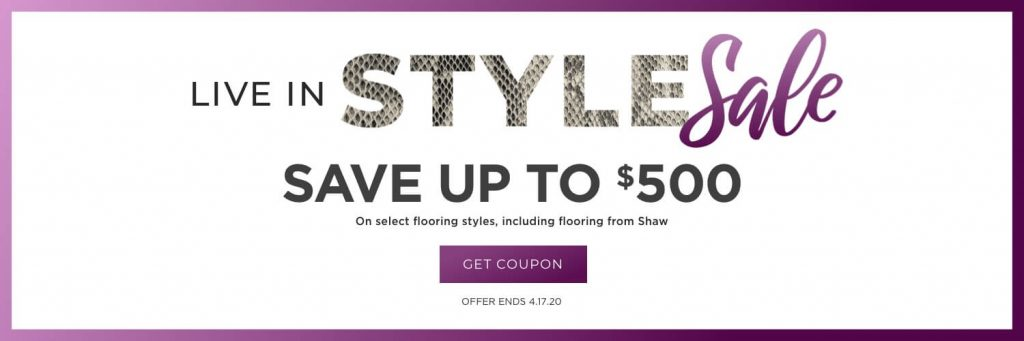 Live in Style Sale | Piedmont Floors